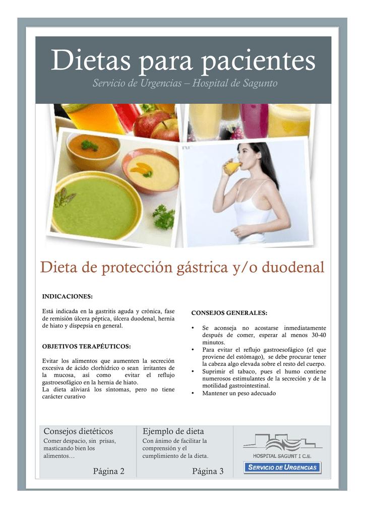 Dieta reflujo gastroesofagico