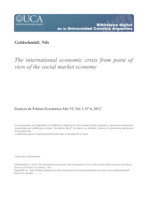 The international economic crisis from point of view