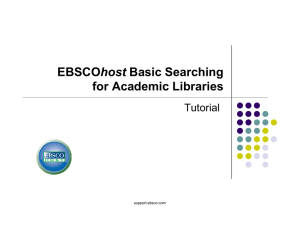 EBSCOhost Basic Searching for Academic Libraries