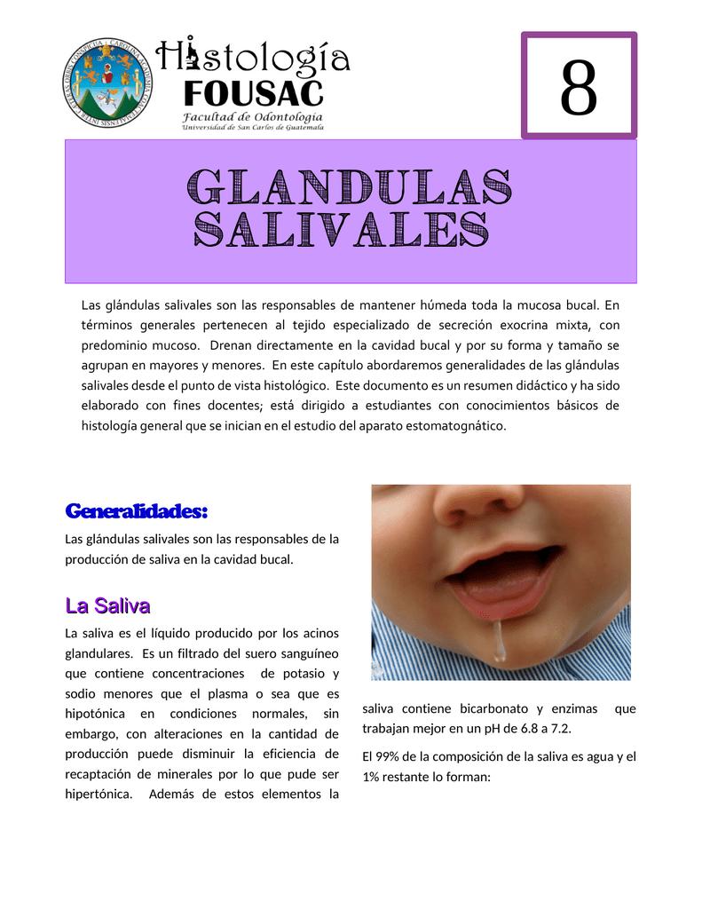 Como limpiar las glandulas salivales
