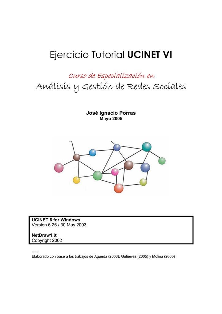 Ejercicio Tutorial UCINET VI Análisis y Gestión de