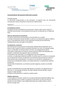 Consentimiento del paciente (informed consent)