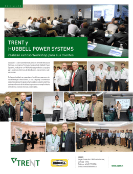 TRENT y HUBBELL POWER SYSTEMS