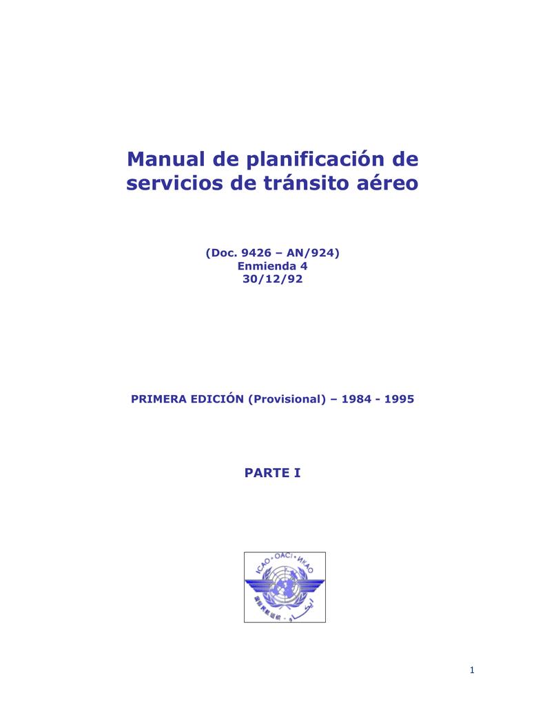 Documento 9426, Manual de planificación de los servicios de
