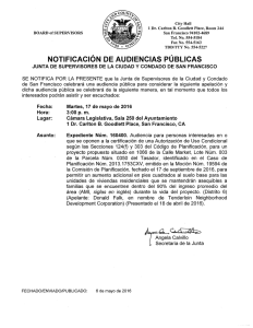 NOTIFICACION DE AUDIENCIAS PUBLICAS