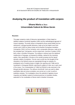 Analysing the product of translation with corpora