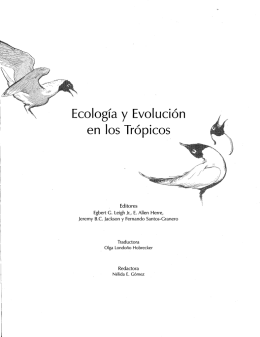 Ecología y Evolución - Smithsonian Tropical Research Institute