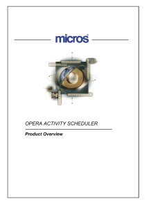 opera activity scheduler