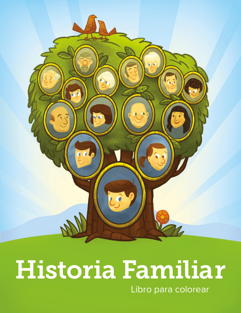 Historia Familiar Libro Para Colorear