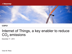Internet of Things, a key enabler to reduce CO emissions