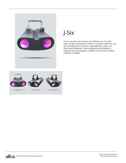 J-Six es un efecto de LED tipo moonflower con 112