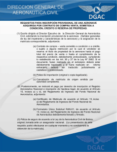 requisitos para inscripción provisional de una aeronave