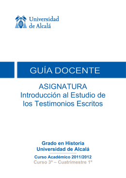 250019 Introduc. Estudio Testimo. Escritos