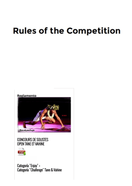 RULES of the Competition TeHuraTeHeiva · Montreal 2016