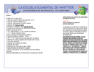 LA ESCUELA ELEMENTAL DE WHITTIER