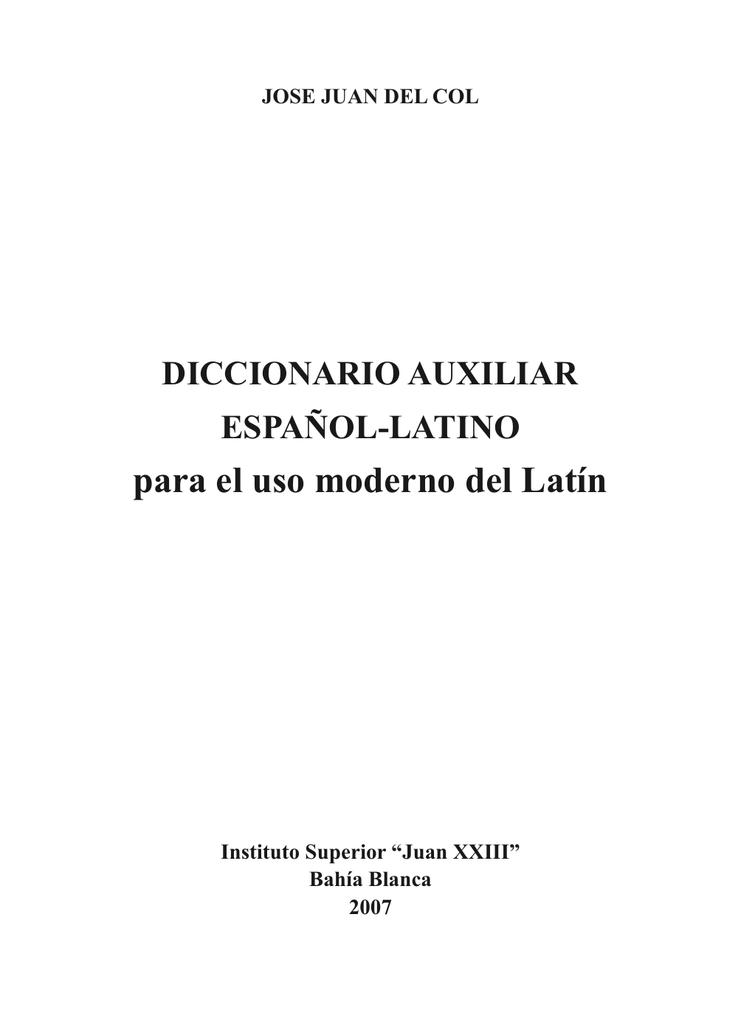 Diccionario para uso moderno del Latín