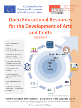 Open Educational Resources for the Development of Arts and Crafts