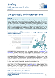 Energy supply and energy security - European Parliament