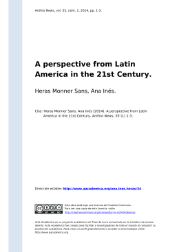 A perspective from Latin America in the 21st Century