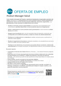 Draft Product Manager Salud