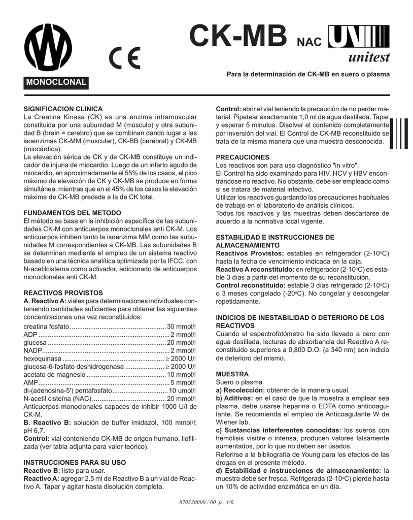 Valores normales de enzima ck