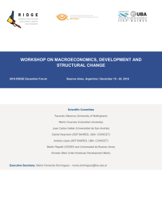 workshop on macroeconomics, development and structural
