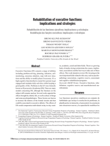 Rehabilitation of executive functions: Implications and strategies