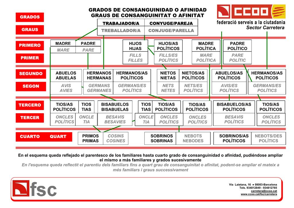 GRADOS DE CONSANGUINIDAD O AFINIDAD GRAUS DE