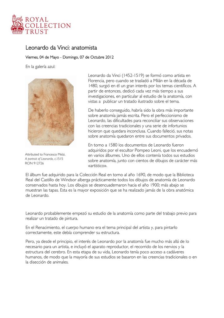 Leonardo da Vinci: anatomista