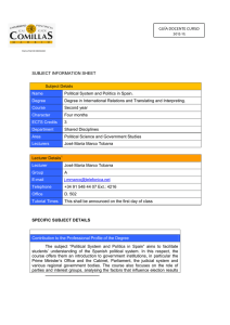 SUBJECT INFORMATION SHEET Subject Details Name