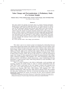 Value Change and Post-modernism: A Preliminary Study of a