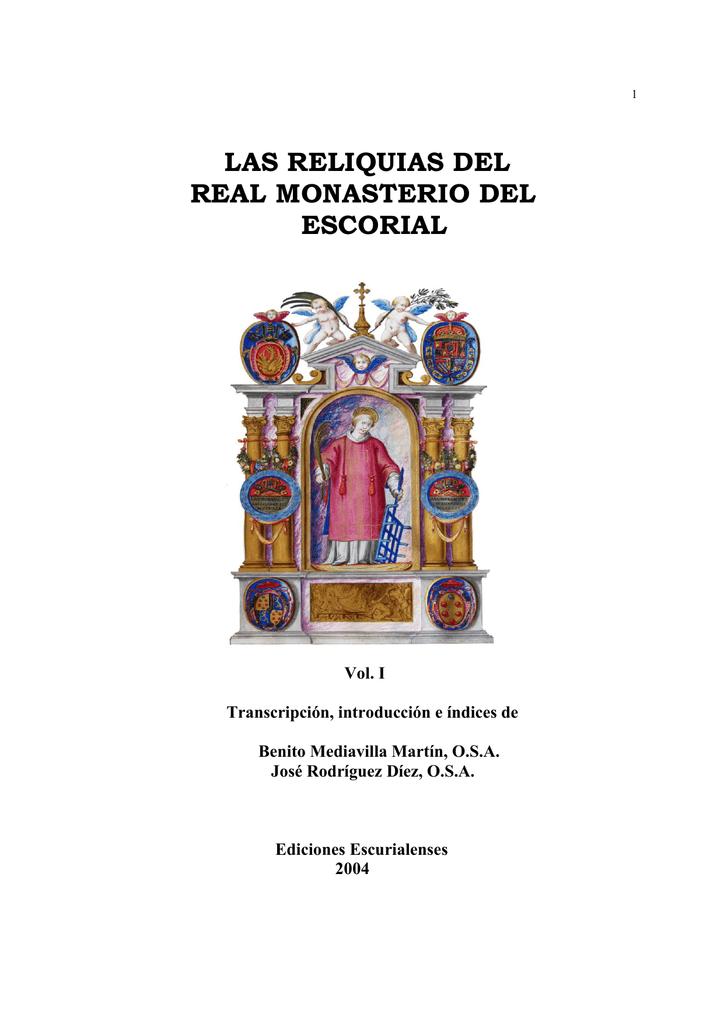 Reliquias - Real Biblioteca del Monasterio de El Escorial