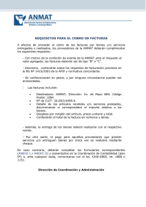 requisitos para el cobro de facturas