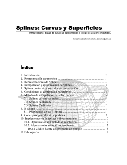 Splines: Curvas y Superficies