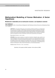 Mathematical Modelling of Human Motivation: A Vector Hypothesis