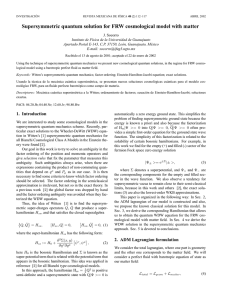Supersymmetric quantum solution for FRW cosmological - E