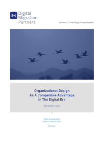 Organizational Design As A Competitive Advantage In The Digital Era