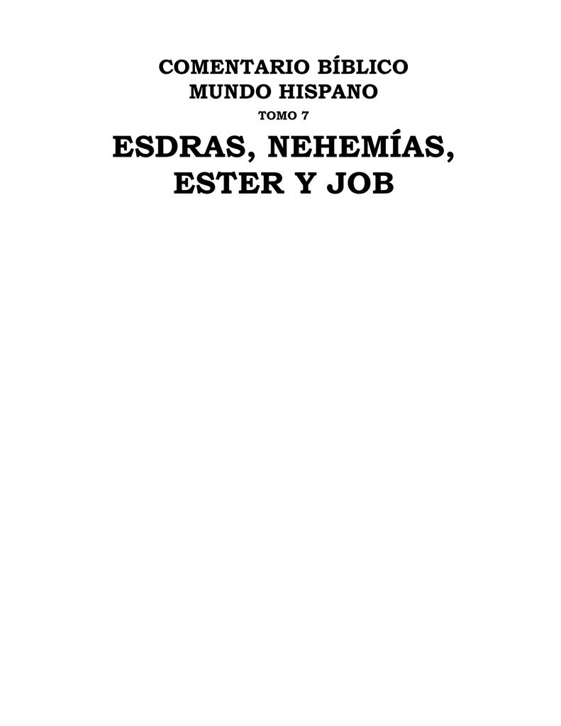 ESDRAS, NEHEMÍAS, ESTER Y JOB