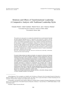 Relations and Effects of Transformational Leadership: A