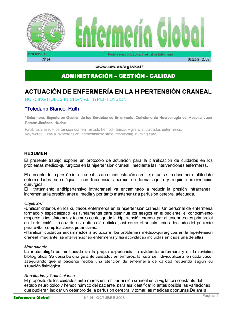 Estudio de caso de enfermería sobre hipertensión
