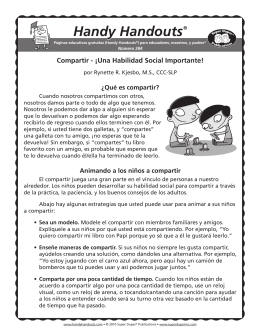 Handy Handouts® Compartir - Super Duper Publications
