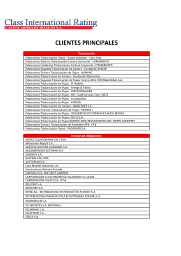 Principales Clientes - Class International Rating