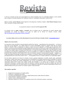 Convocatoria - Revistas · Uniandes
