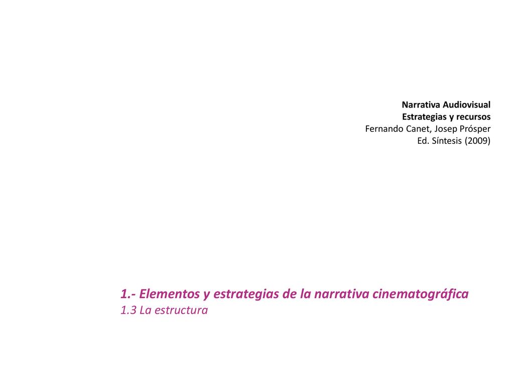 Presentación De Powerpoint Narrativa Cinematográfica 3593