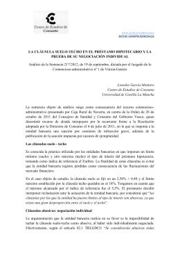 22 a os despu s universidad de castilla for Denunciar clausula suelo