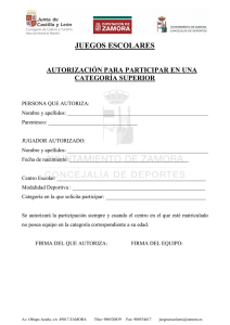 AUTORIZACION CATEGORIA SUPERIOR
