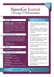 COBERTURA TEMÁTICA NanoGe Journal of Energy and CONTACT
