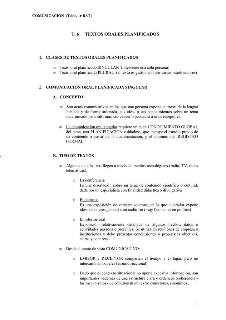T 6 Textos Orales Planificados 1