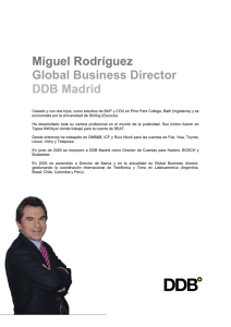 Miguel Rodríguez Global Business Director DDB Madrid
