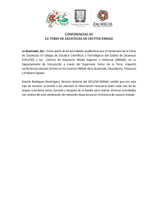 conferencias de la toma de zacatecas en cecytez